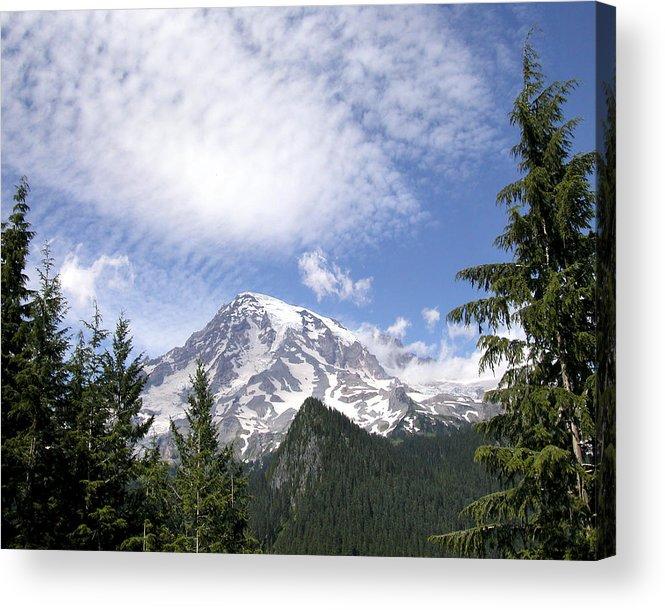 Mountain Acrylic Print featuring the photograph The Mountain Mt Rainier Washington by Michael Bessler
