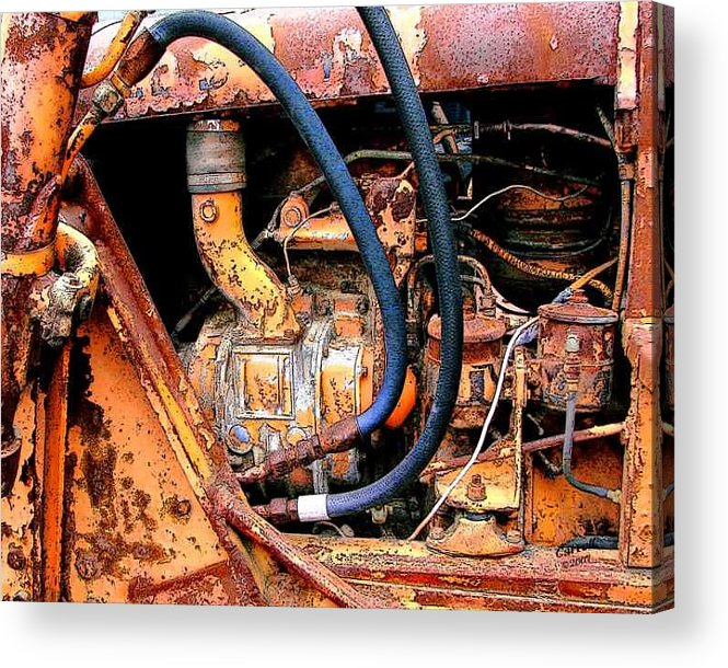 Photography Acrylic Print featuring the photograph The Old Tractor by Linda Carroll