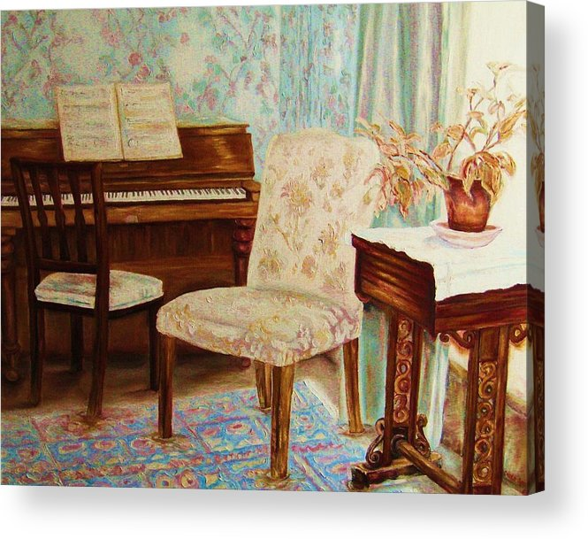 Iimpressionism Acrylic Print featuring the painting The Piano Room by Carole Spandau