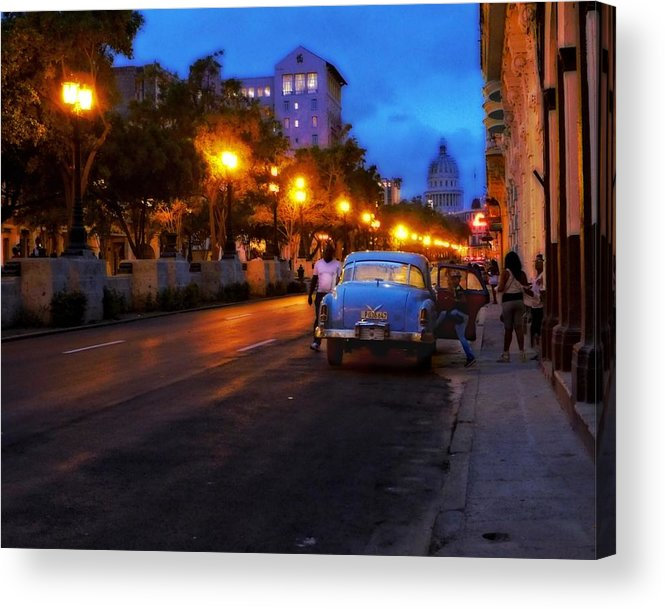 Havana Acrylic Print featuring the photograph The Prado, Havana Cuba by Cheryl Kurman