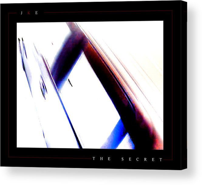 Abstract Acrylic Print featuring the photograph The Secret by Jonathan Ellis Keys