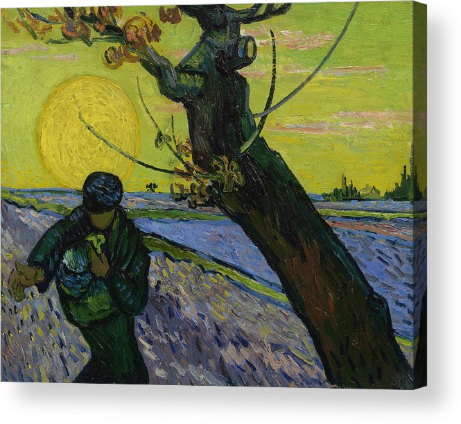 Van Gogh Acrylic Print featuring the painting The Sower 10 by Vincent van Gogh