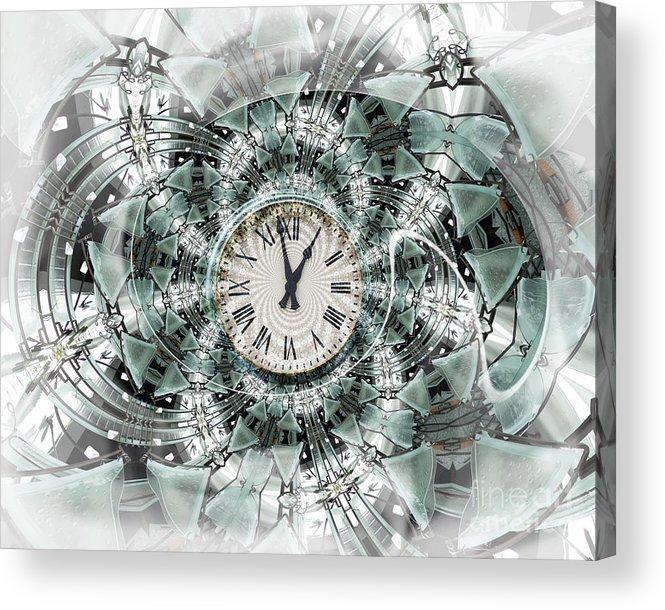 Clock Acrylic Print featuring the digital art Time Warp by Chuck Brittenham