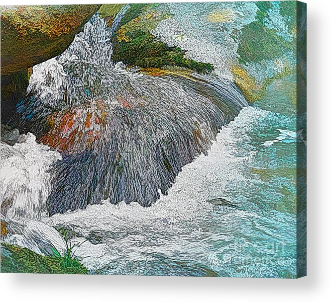 Waterfall Acrylic Print featuring the photograph Trout Stream by Krinkled Leaves Photography