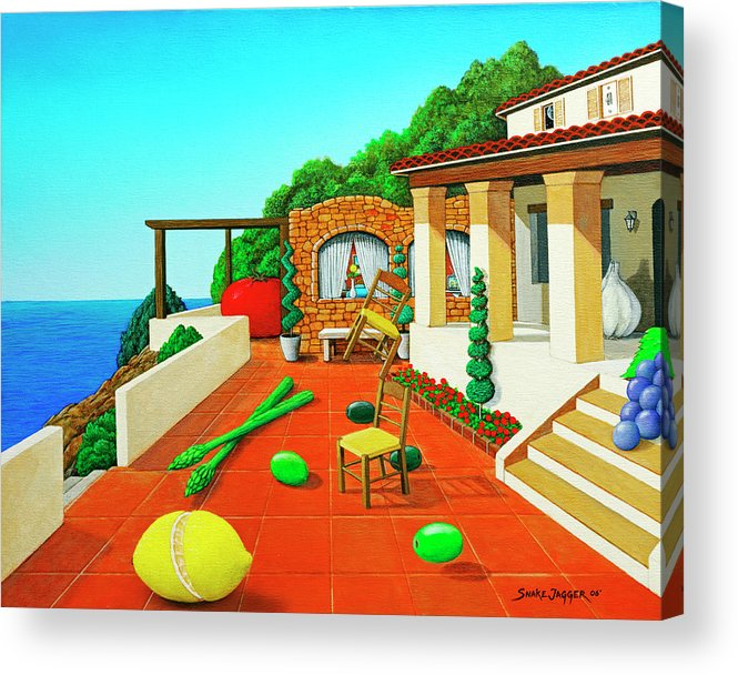 Tuscan Acrylic Print featuring the painting Tuscan Vacation by Snake Jagger