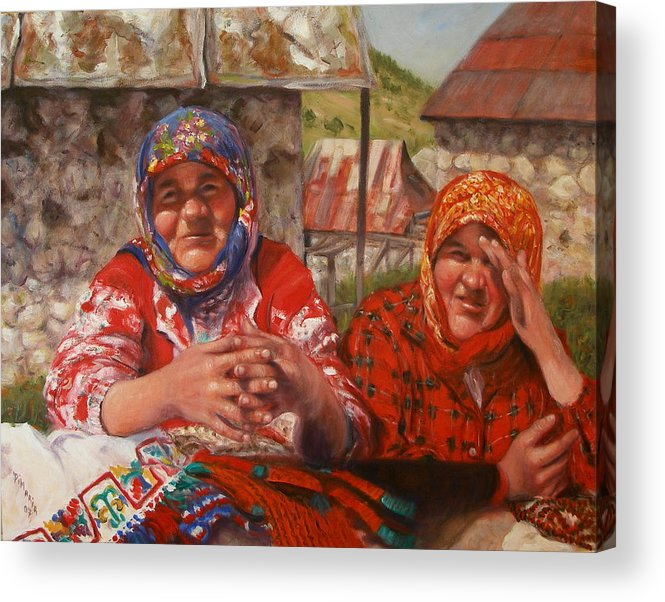 Realism Acrylic Print featuring the painting Twins by Donelli DiMaria