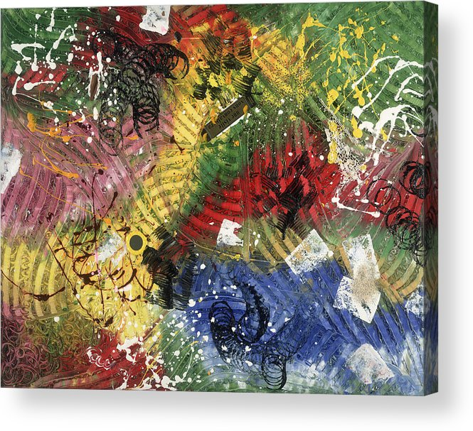 Abstract Acrylic Print featuring the painting Une Visite Vous Convaincra by Dominique Boutaud