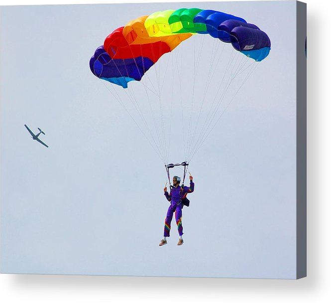 Parachute Acrylic Print featuring the photograph Untitled by Jennifer Englehardt