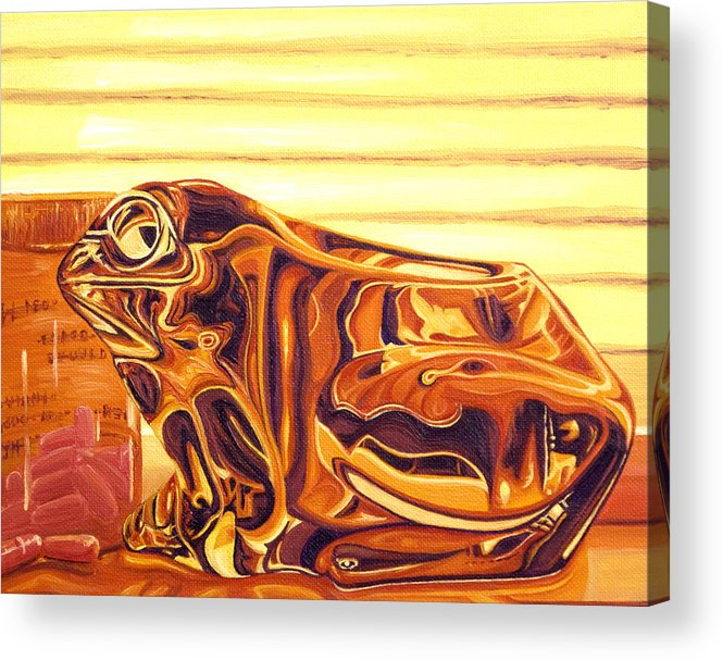 Frog Acrylic Print featuring the painting Untitled by Judy Henninger
