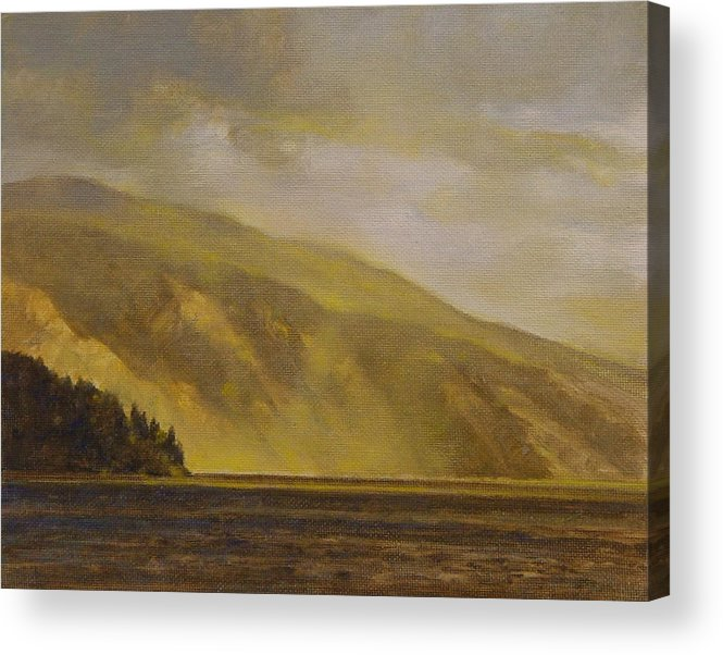 Landscape Acrylic Print featuring the painting View Of The Monarchs by Gary Kaemmer