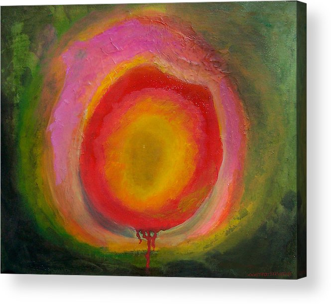 Abstract Acrylic Print featuring the painting Virus by Anne Trotter Hodge