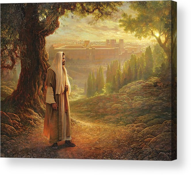 Jesus Acrylic Print featuring the painting Wherever He Leads Me by Greg Olsen