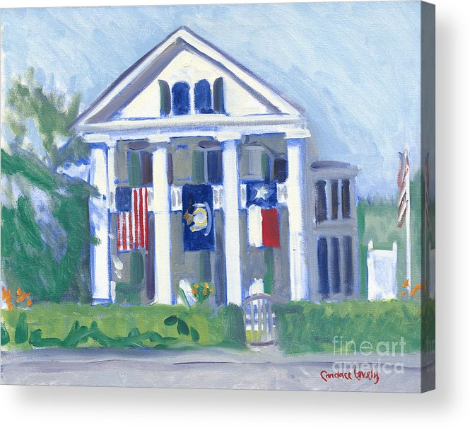 White Columns Acrylic Print featuring the painting White Columns by Candace Lovely
