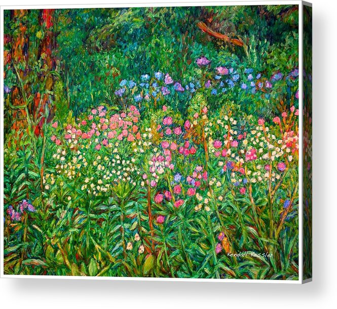 Floral Acrylic Print featuring the painting Wildflowers Near Fancy Gap by Kendall Kessler