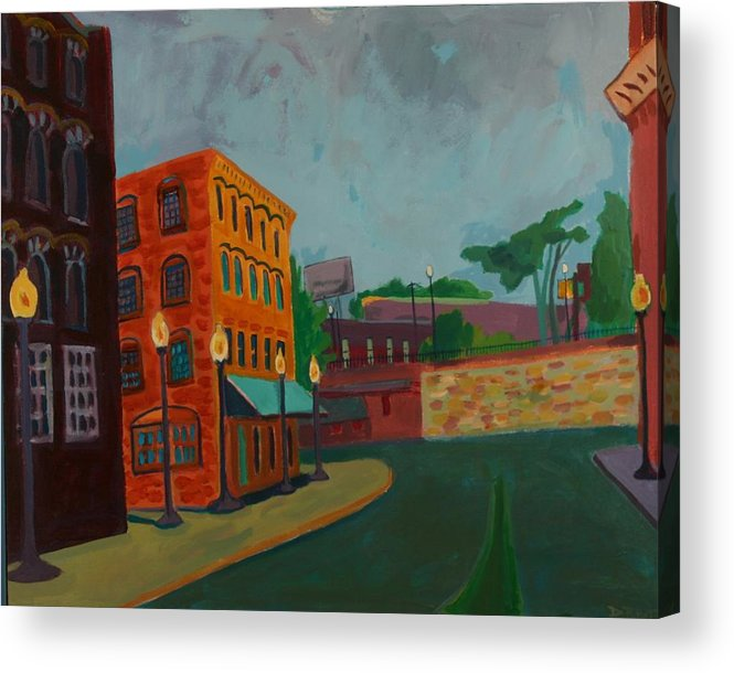 Cityscape Acrylic Print featuring the painting Wingate Street by Debra Bretton Robinson