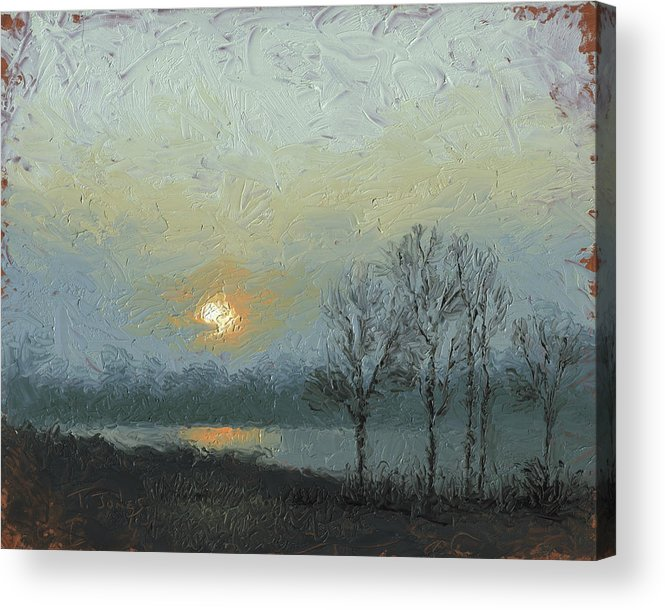 Arkansas Acrylic Print featuring the painting Winter Mist by Timothy Jones