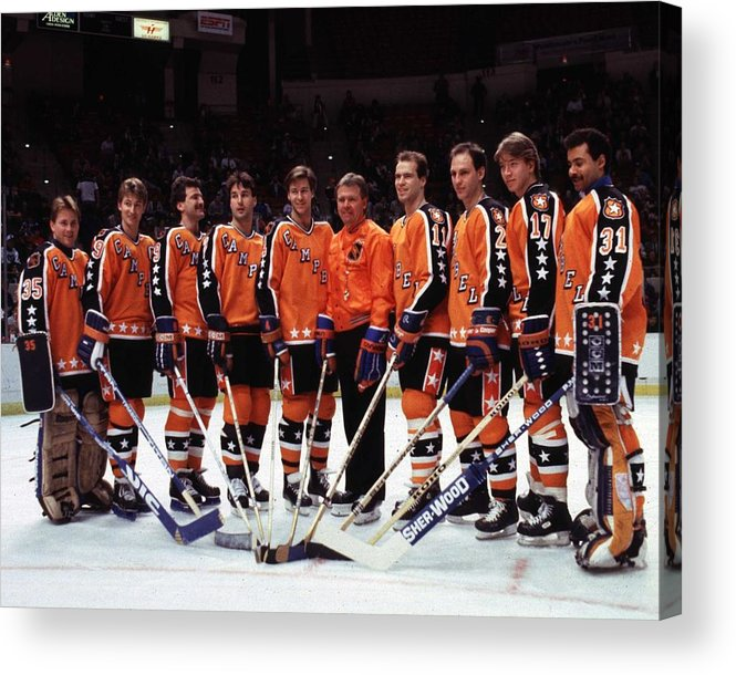 1980-1989 Acrylic Print featuring the photograph 1986 38th Nhl All-star Game Campbell by B Bennett