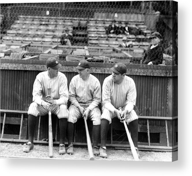 American League Baseball Acrylic Print featuring the photograph Babe Ruth by New York Daily News Archive
