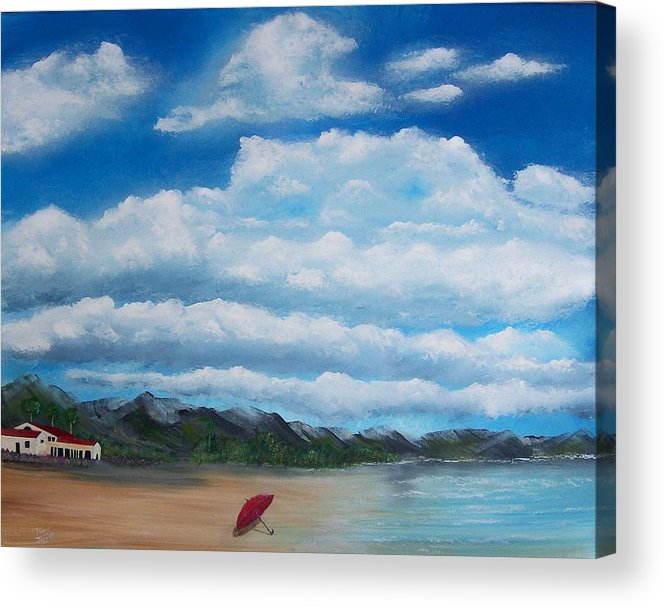 Clouds Acrylic Print featuring the painting Clouds by Tony Rodriguez