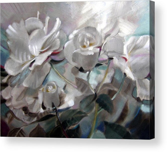 Floral Roses Acrylic Print featuring the painting Abstracted Roses by Patrick McClintock