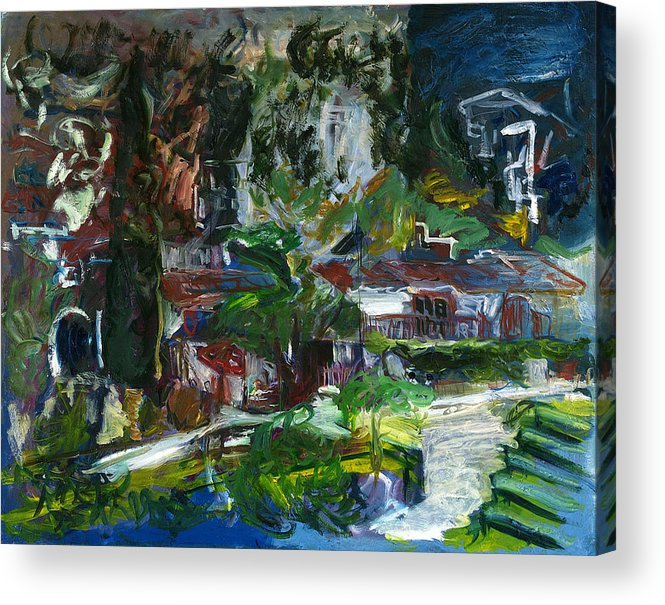 Landscape Acrylic Print featuring the painting Bellapais by Joan De Bot
