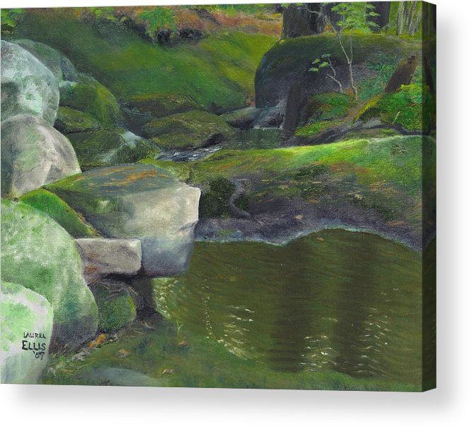 Landscape Acrylic Print featuring the painting Beside Cool Waters by Laurel Ellis