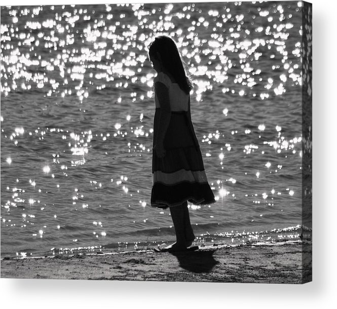 Acrylic Print featuring the photograph Child By Water by Lisa Johnston
