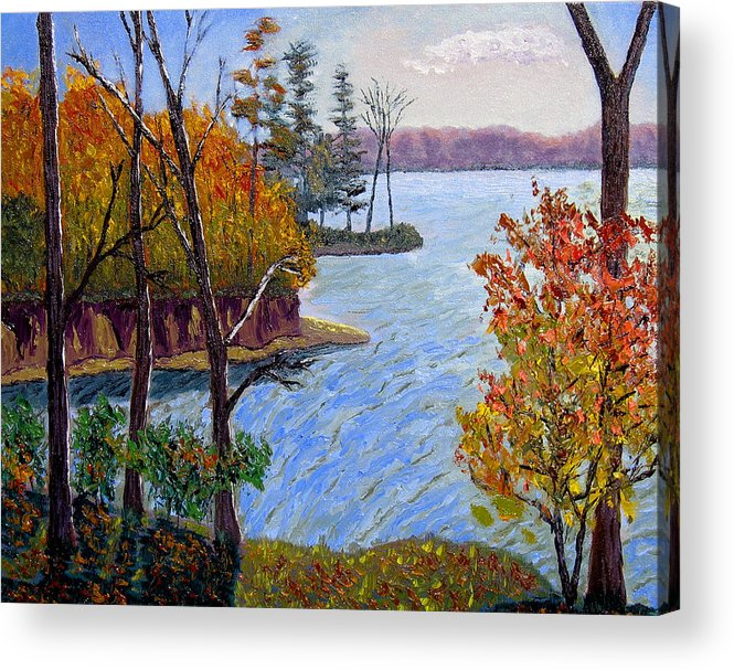 Original Oil On Canvas Acrylic Print featuring the painting Ecp 10-26 by Stan Hamilton