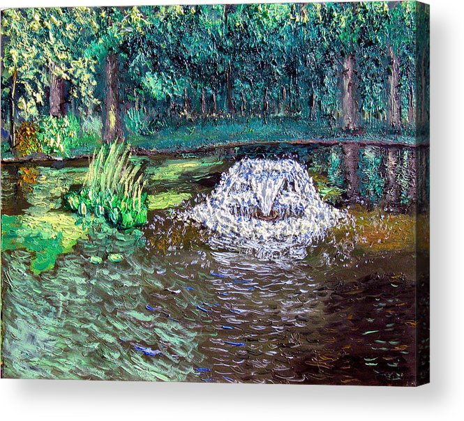 Original Oil On Canvas Acrylic Print featuring the painting Ecp 7-12 by Stan Hamilton