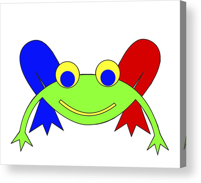 Frederic The Frog. Frederic Acrylic Print featuring the digital art Frederic The Frog by Asbjorn Lonvig