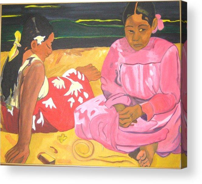 Gaugin Acrylic Print featuring the painting Gaugin by AVK Arts