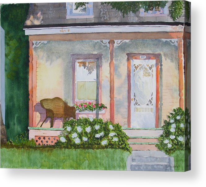 House Acrylic Print featuring the painting Grandma's Front Porch by Ally Benbrook