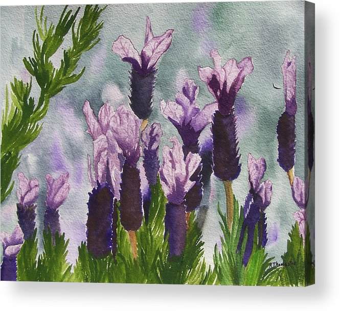 Floral Acrylic Print featuring the painting Lavender by Robert Thomaston