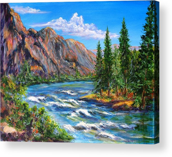 Landscape Acrylic Print featuring the painting Snake River by Thomas Restifo