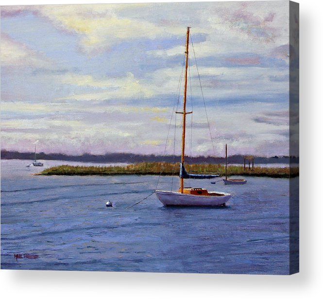 Barnegat Bay Acrylic Print featuring the painting Barnegat Bay Morning by Mark Hunter
