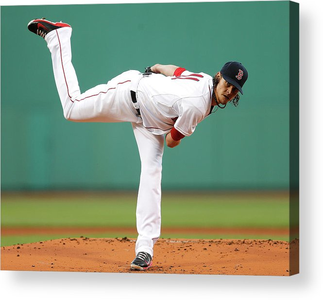 American League Baseball Acrylic Print featuring the photograph Toronto Blue Jays V Boston Red Sox 1 by Jim Rogash