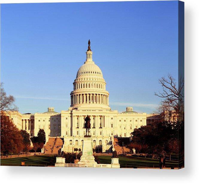 Adnt Acrylic Print featuring the photograph Usa, Washington Dc, Capitol Building by Walter Bibikow