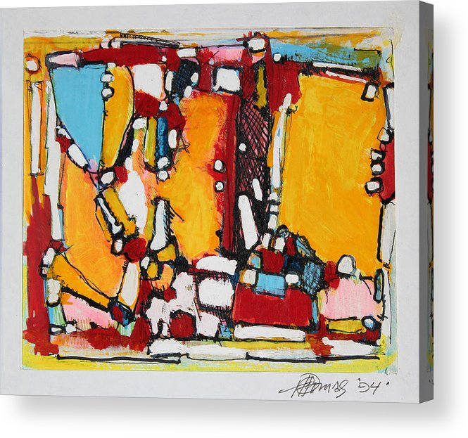 Abstract Painting Acrylic Print featuring the painting Ahimsa  Go Peacefully by Hari Thomas