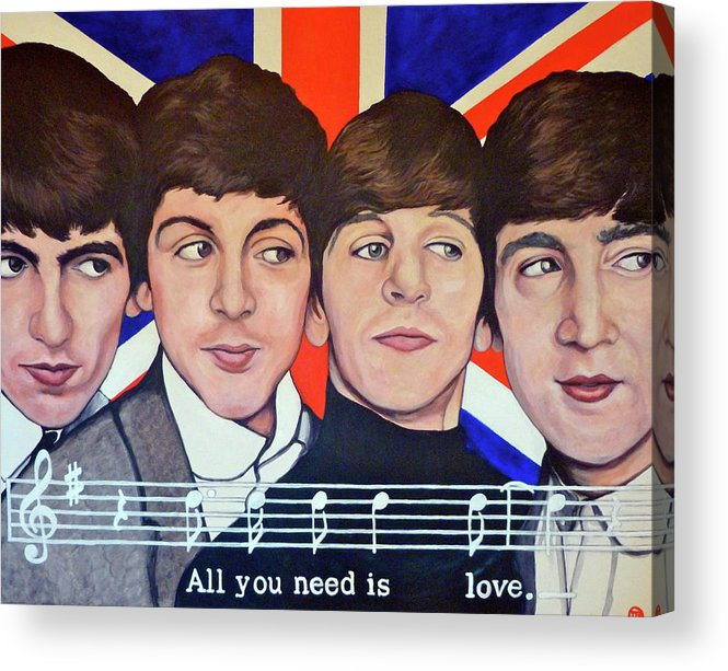 All You Need Is Love Acrylic Print featuring the painting All You Need Is Love by Tom Roderick