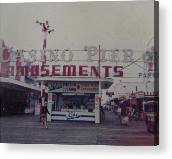 Seaside Heights Acrylic Print featuring the photograph Casino Pier Amusements Seaside Heights Nj by Joann Renner