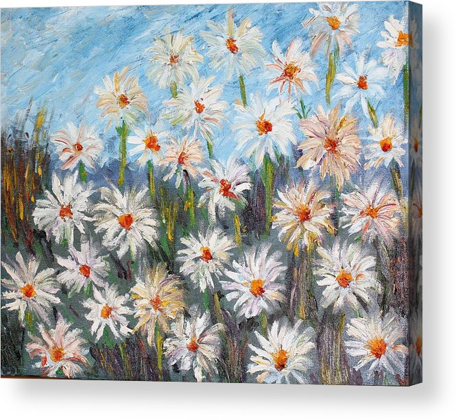 Flowers Acrylic Print featuring the painting Flowers by Kuntal Choksi