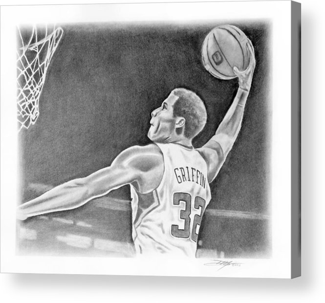 Clippers Acrylic Print featuring the drawing Griffin by Don Medina
