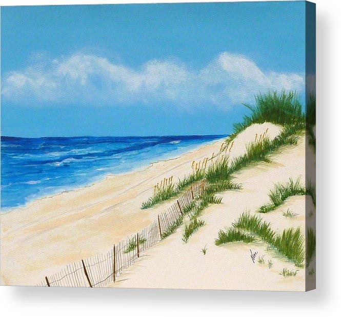 Beach Acrylic Print featuring the painting Gulf Coast II by Nancy Nuce