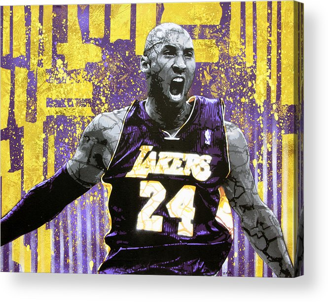 Kobe Acrylic Print featuring the painting Kobe The Destroyer by Bobby Zeik