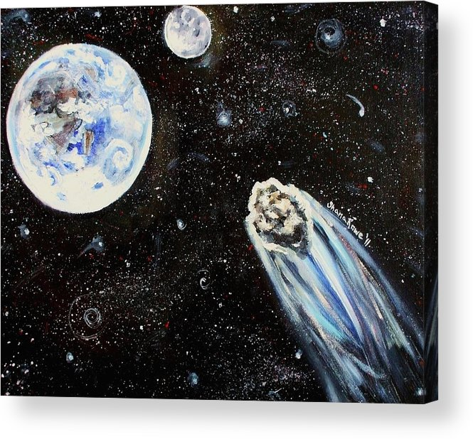 Space Acrylic Print featuring the painting Make A Wish by Shana Rowe Jackson
