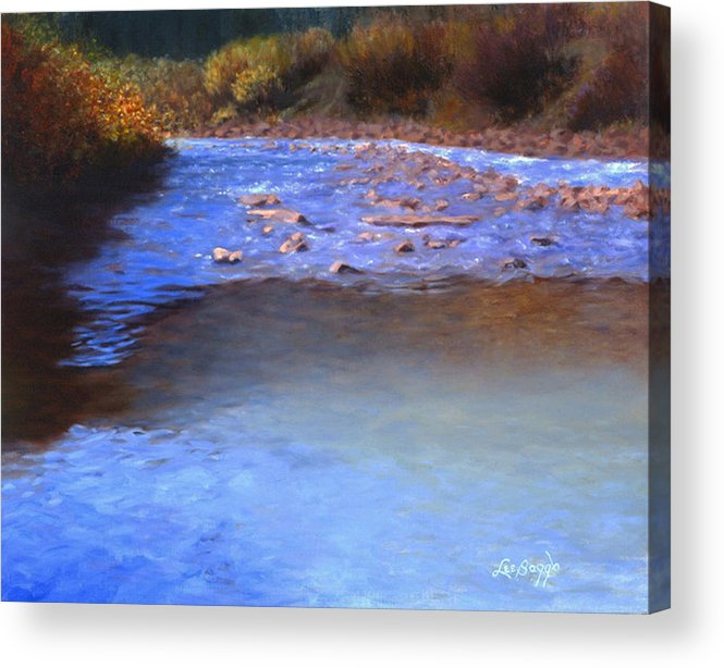 River Acrylic Print featuring the painting On The Way To Ouray by Lee Baggs