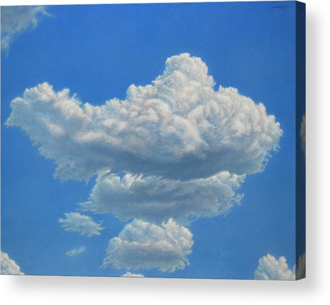 Sky Acrylic Print featuring the painting Piece Of Sky 3 by James W Johnson