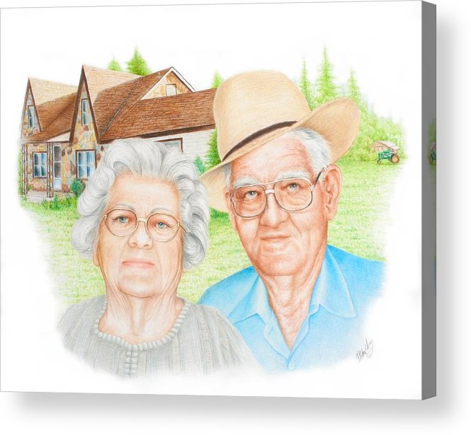 Portrait Acrylic Print featuring the drawing Smith Commission by Mike Ivey
