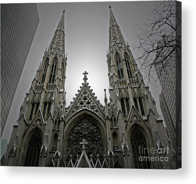 Cathedral Acrylic Print featuring the photograph St. Patricks Cathedral by Angela Wright
