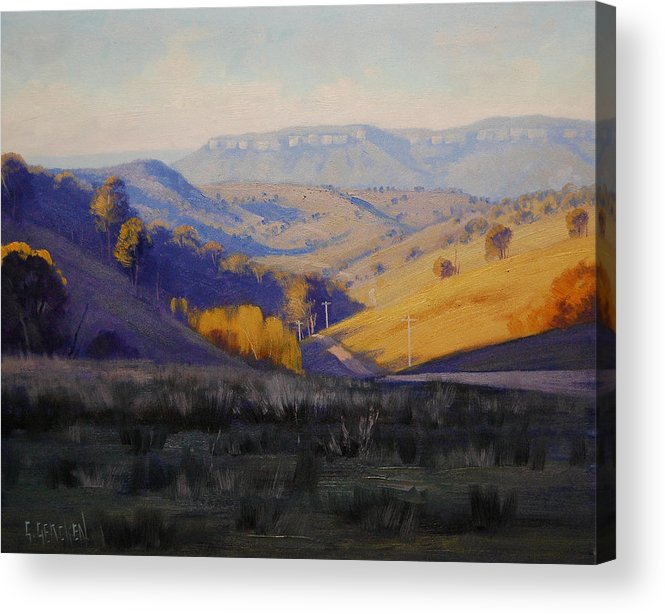 Rural Acrylic Print featuring the painting Summer Afternoon by Graham Gercken